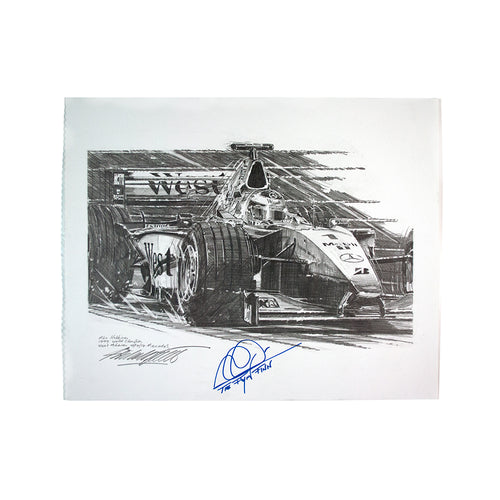 Nicholas Watts - Hakkinen Signed Original Pencil Sketch