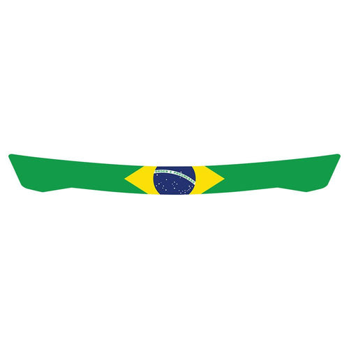 Brazilian Flag Visor Strip