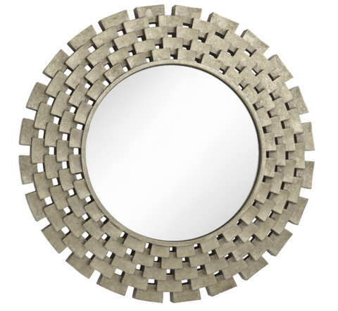 Round Gina Mirror with Gold Detailing
