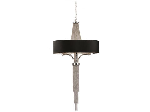 Langan Chandelier with Black Shade Product Image