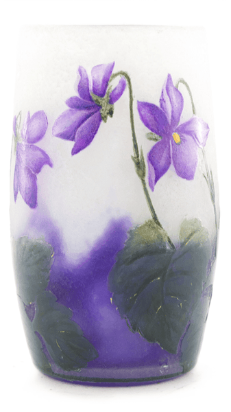 Real Daum African Violets Small Tumbler