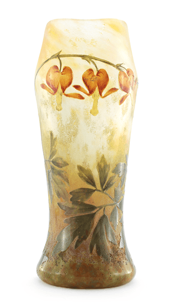 Authentic Daum Bleeding Hearts Vase