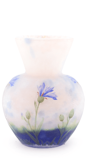 Authentic Daum Cornflowers Small Vase