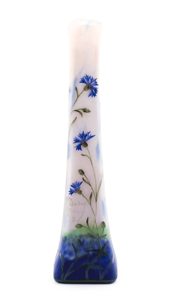 Real Daum Cornflowers Vase