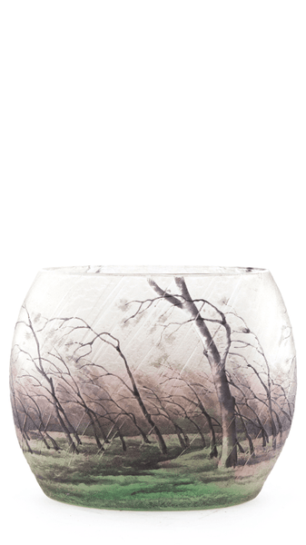 Genuine Daum Rain Scene Pillow Vase SOLD