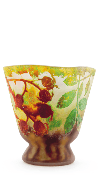 Authentic Daum Rosehips Vase