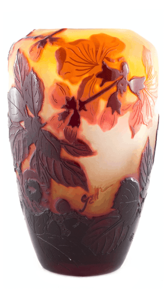 Genuine Galle Apple Blossom Vase