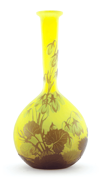 Authentic Galle Bellflowers Solifleur Vase