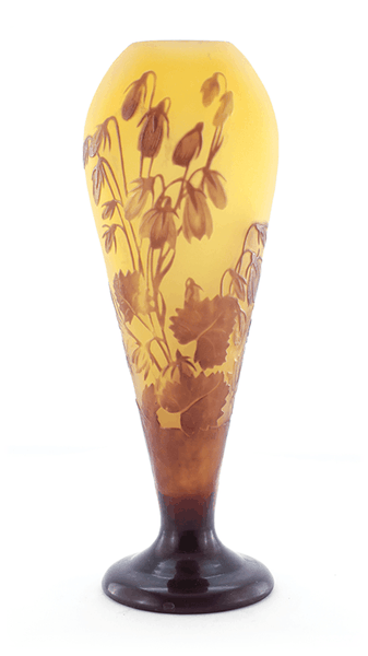 Authentic Galle Bluebells Cameo Vase