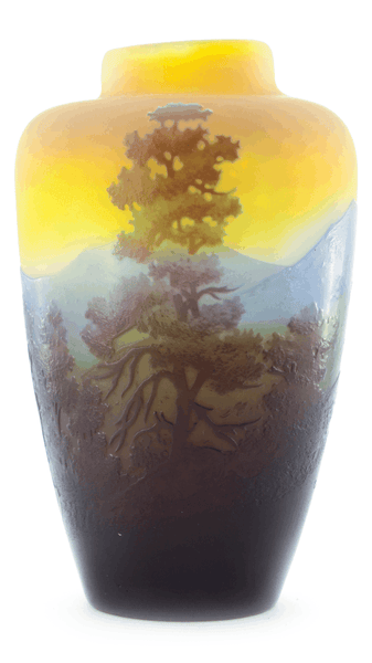 Authentic Galle Scenic Cameo Vase