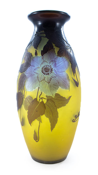 Authentic Galle Clematis Vase Large
