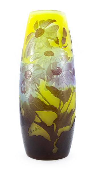Authentic Galle Blue Daisy's Vase