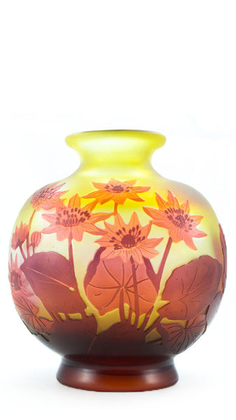 Authentic Galle Floral Balloon Shape Vase