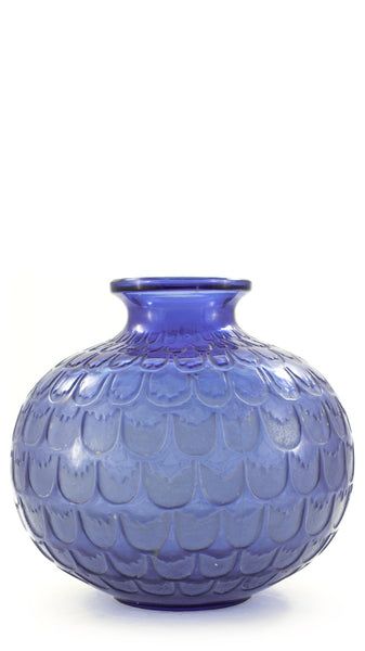 Authentic Lalique Blue Grenade Vase