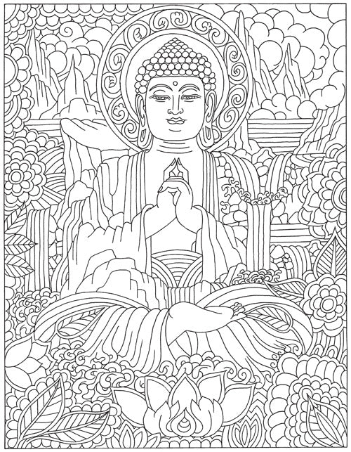 Color Me Buddha Adult Coloring Book