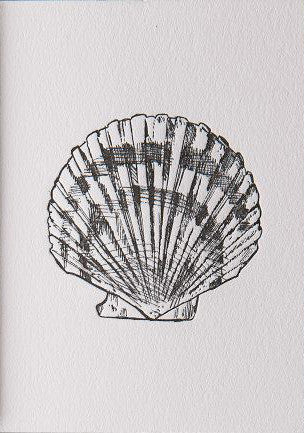 Clam Shell Letter Press Card
