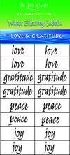 Water Blessing Labels-Love and Gratitude