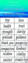 Water Blessing Labels-Personal Growth