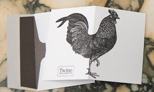 Rooster Letter Press Card