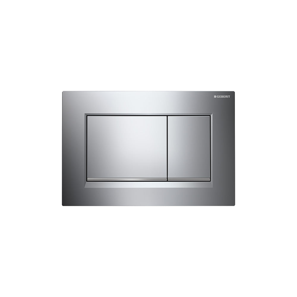 Geberit Sigma30 Dual Flush Plate Gloss Chrome/Matt Chrome - 115.883.KH.1