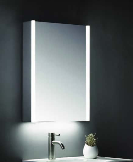 700 x 500mm Mirror Cabinet with LED Strips & Shaver Socket - ABS3101
