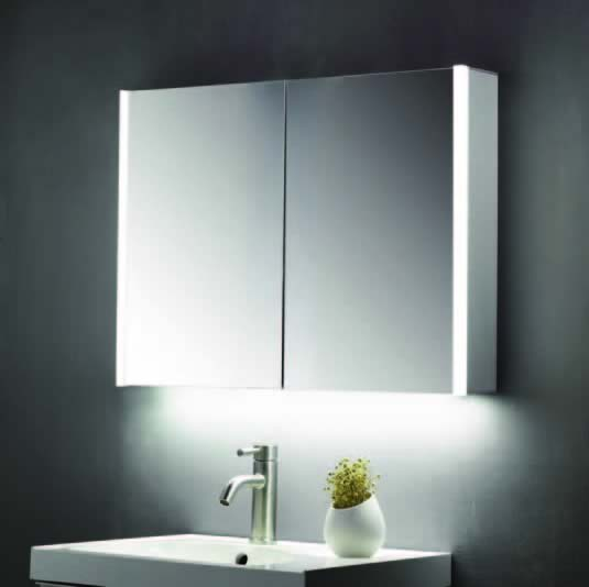 600 X 700mm Mirror Cabinet With Led Strips Shaver Socket Abs3102 The Bathroom Shed