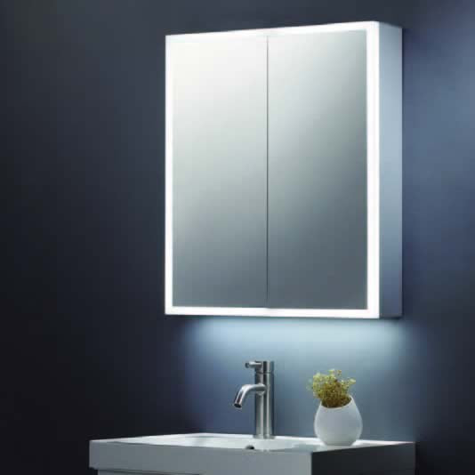 600 x 700 Mirror Cabinet with LED Surround and Shaver Socket - ABS3104