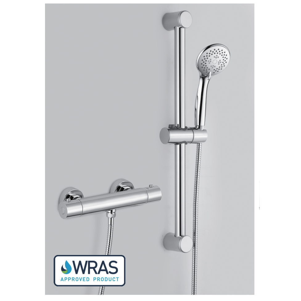 Thermostatic Bar Shower Valve & Riser Rail Kit - 029.38.004