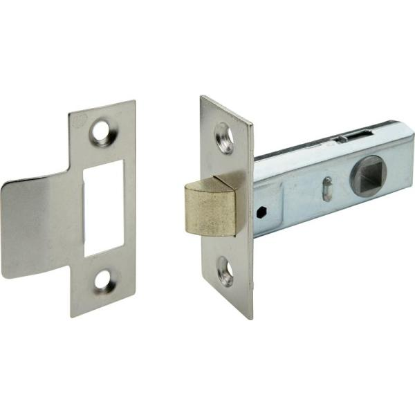 Economy Tubular Mortice Latch, 44/64mm Nickel Plated - 911.03.194