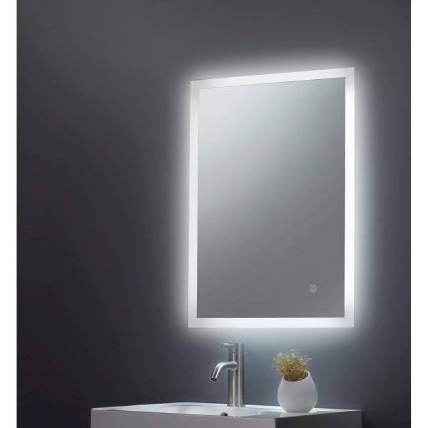 Square Mirror Edge LED 600x800x45mm W/ Demist, Touch - ABS3018