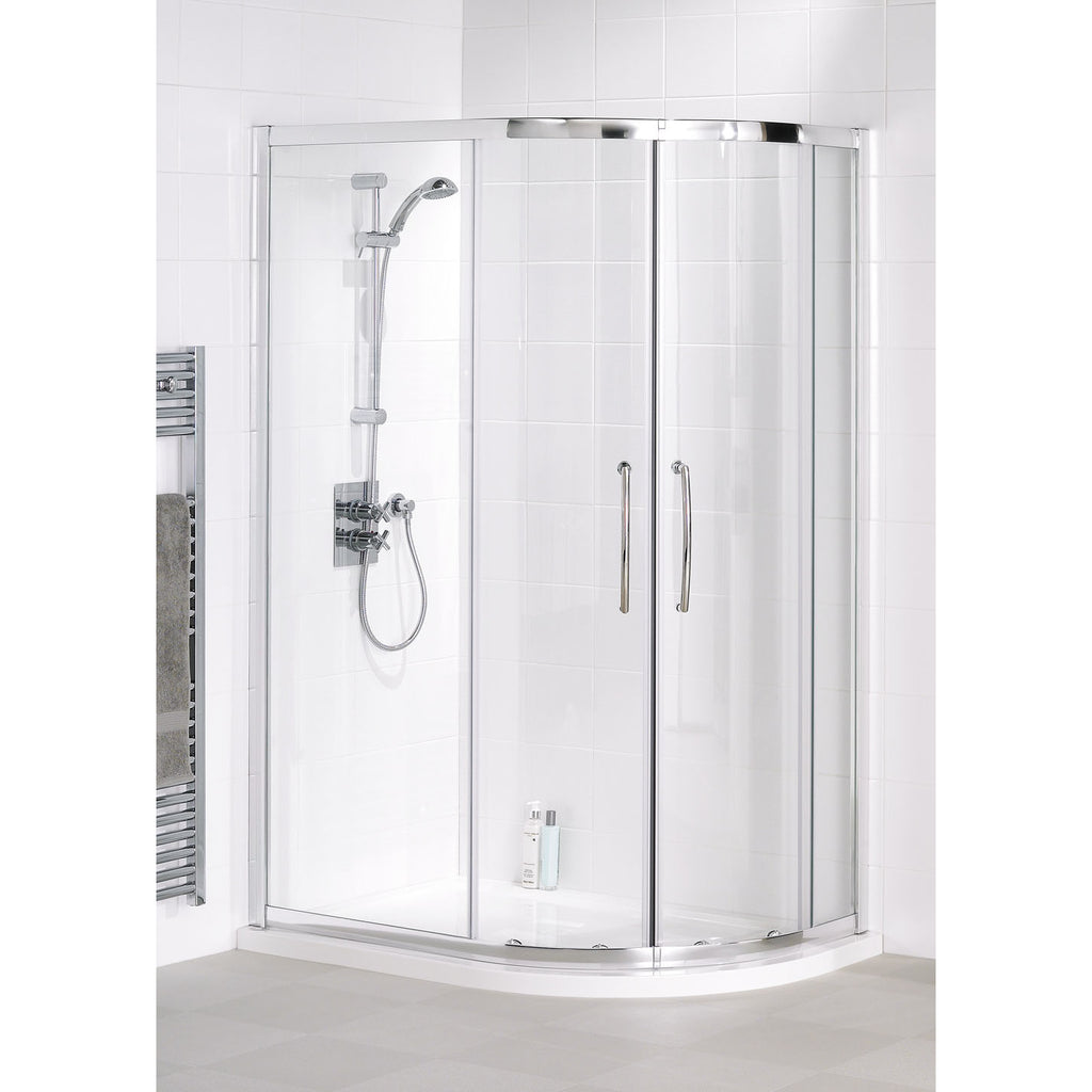 Lakes Classic 900 x 800 x 1850mm Silver Easy Fit Offset Quadrant Shower Enclosure