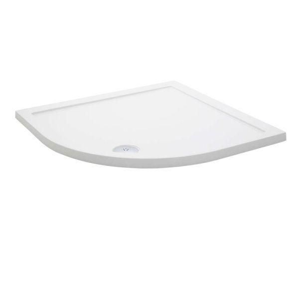 1200 x 800 LH Offeset Quadrant Low Profile Shower Tray - KRQL1208L