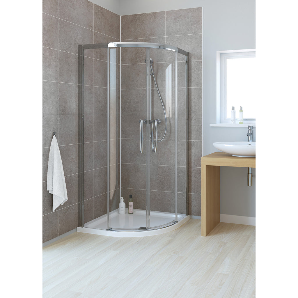 Lakes Classic 900 x 800 x 1850mm Low Threshold Double Door Offset Quadrant Shower Enclosure