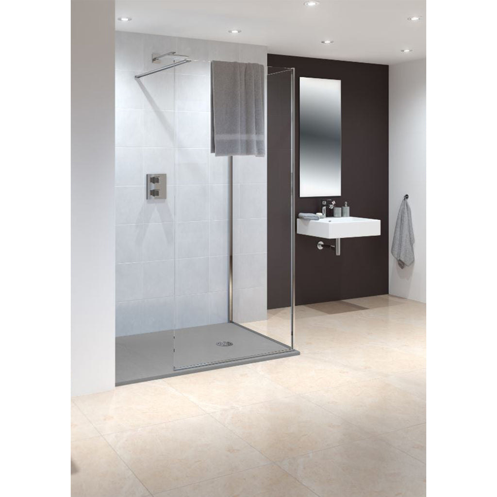 Lakes Marseilles 1400 x 2000mm Frameless Walk-In Shower Enclosure