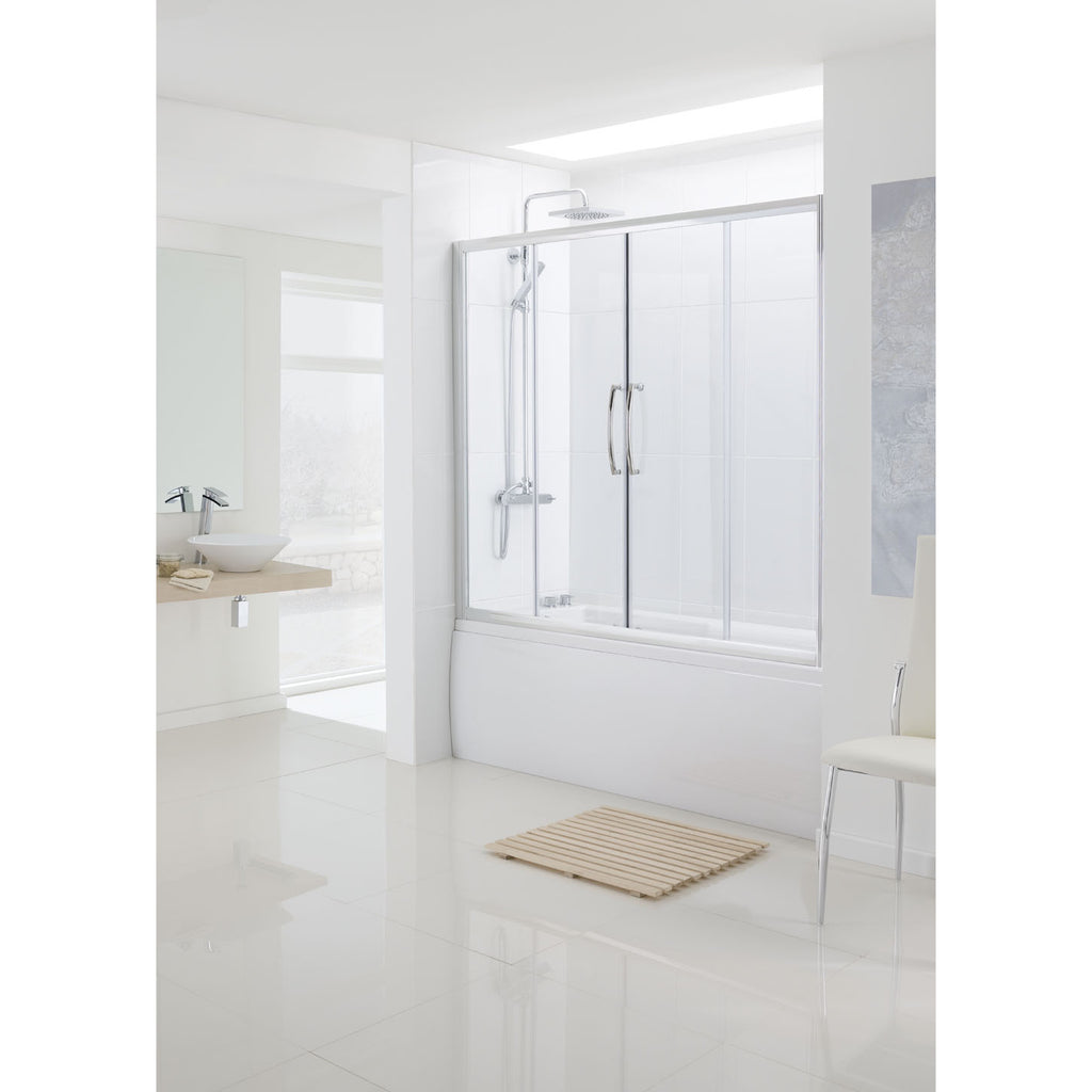 Lakes Classic 1600 x 1500mm Over Bath Semi-Frameless Double Sliding Doors