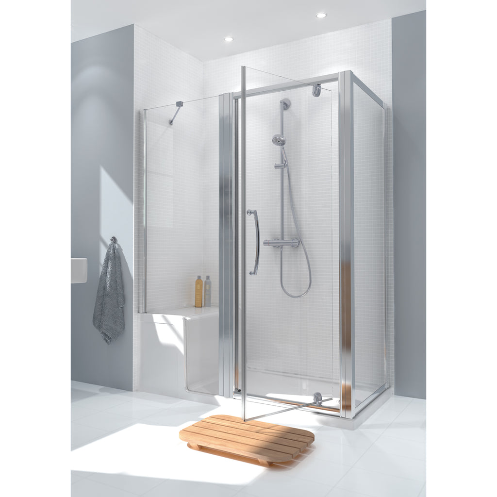 Lakes Classic 1500 x 800mm Seated Shower Tray & In-line Panel