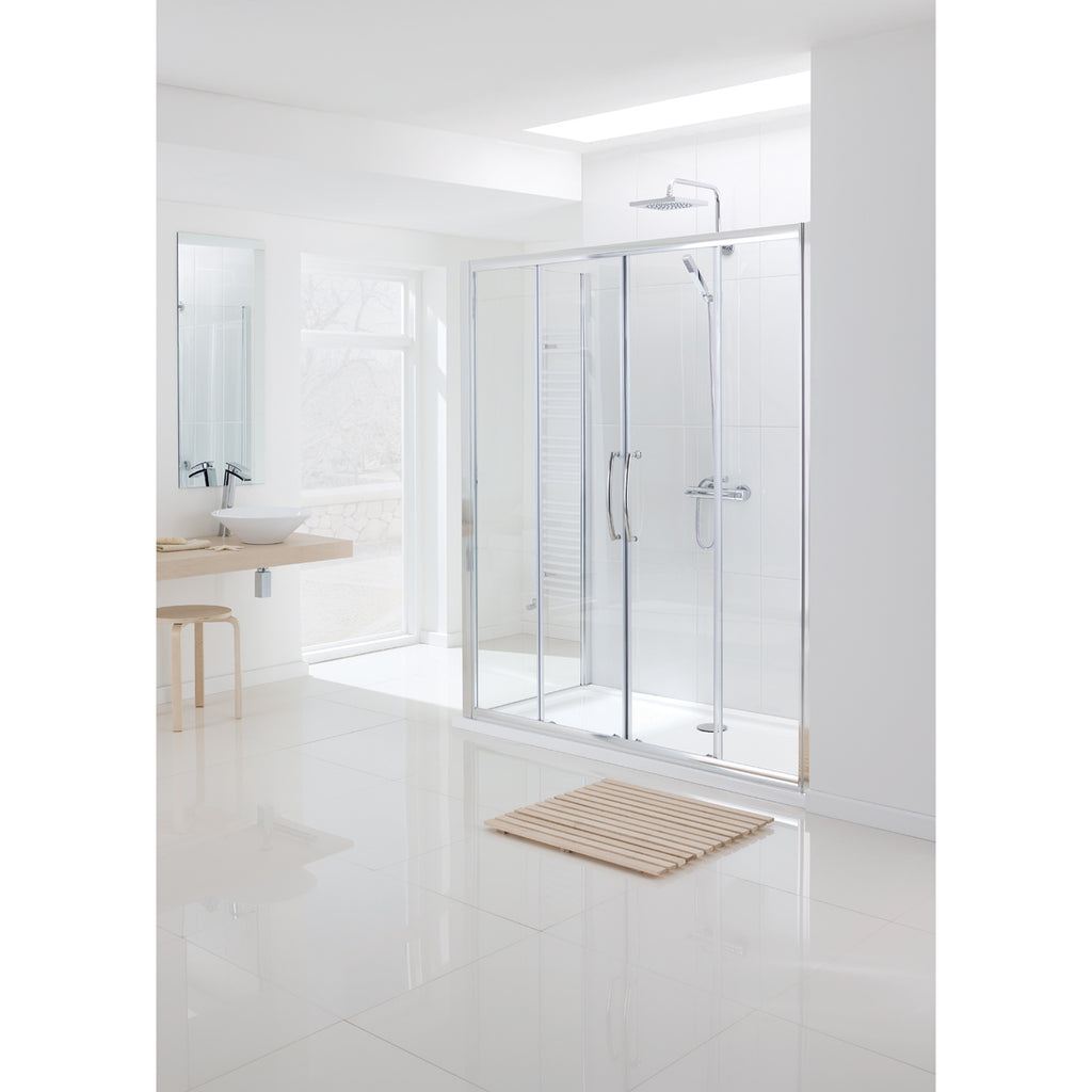Lakes Classic 1700 x 1850mm Semi-Frameless Double Sliding Shower Door