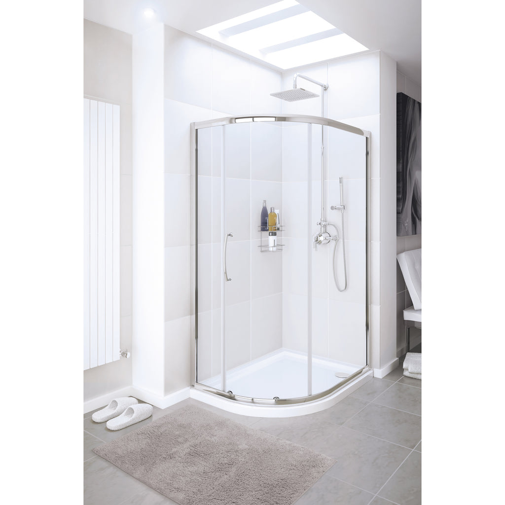 Lakes Classic 900 x 800 x 1900mm Single Door Offset Quadrant Shower Enclosure