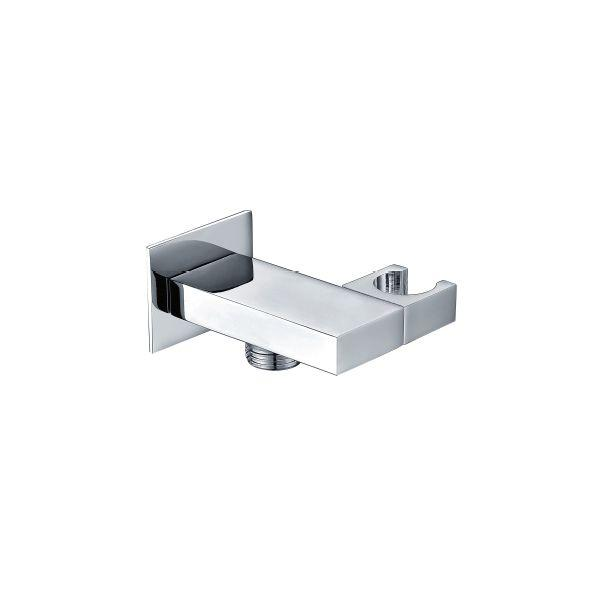 Square Adjustable Handset Wall Bracket with Outlet - 029.47.001