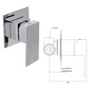 Square Concealed Wall Mounted Mixer Valve - 029.40.003