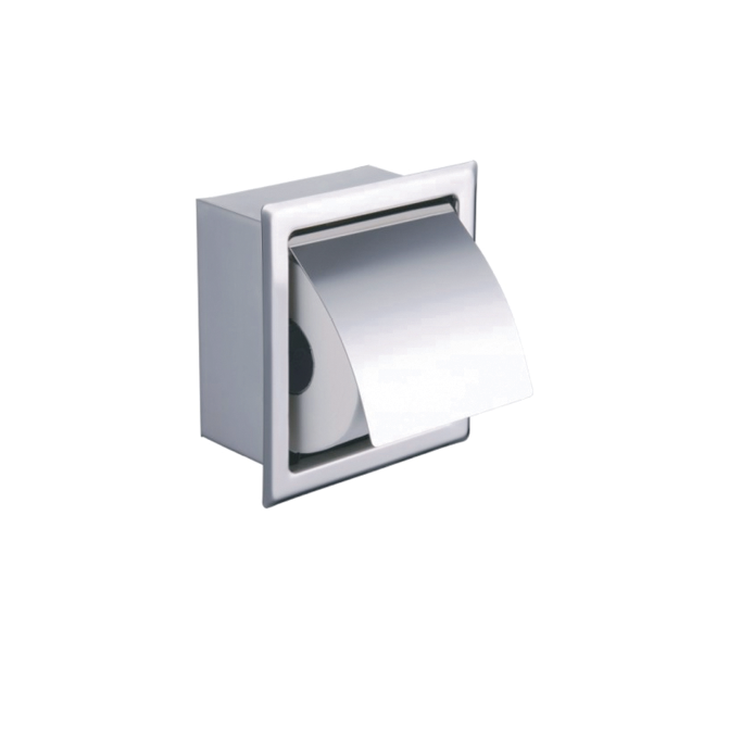 Concealed Toilet Roll Holder (Chrome Plated Brass) - 029.18.001