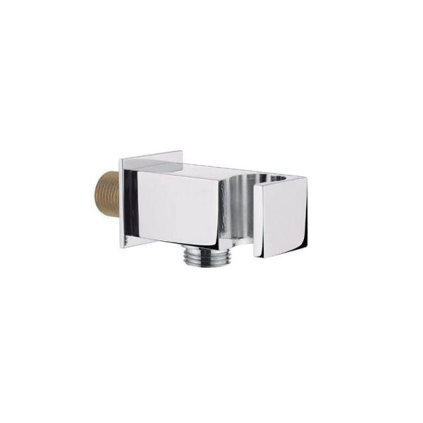Cube Shower Handset Wall Bracket with Outlet - 029.47.005