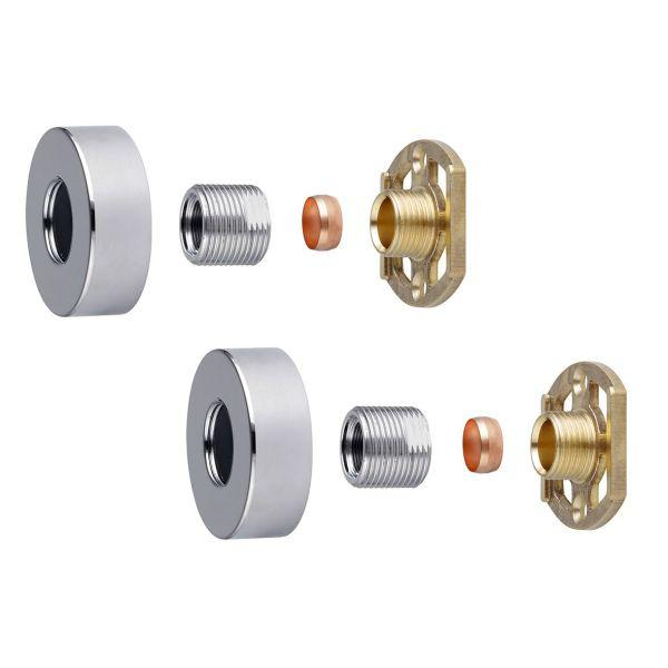 "Round Shower Bar Valve 3/4"" Easy Fit Kit - ABS0035"