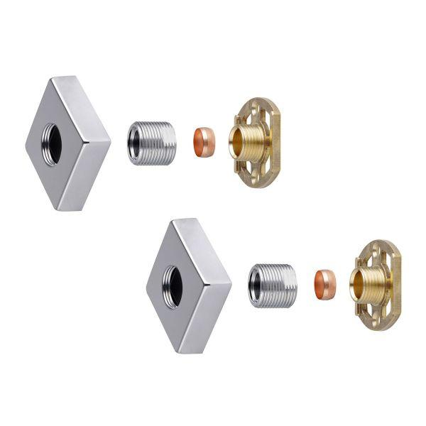 "Square Shower Bar Valve 3/4"" Easy Fit Kit - ABS0036"