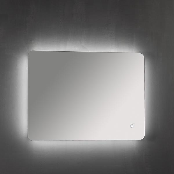 Horizontal Backlit Mirror with Demister Pad 800 x 600mm - ABS3008