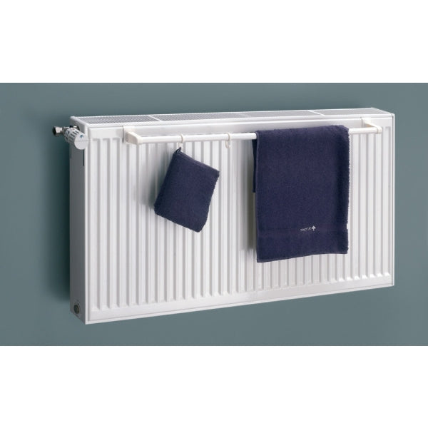 Eucotherm Towel Rail For Double Panel Radiator With A Top Grill