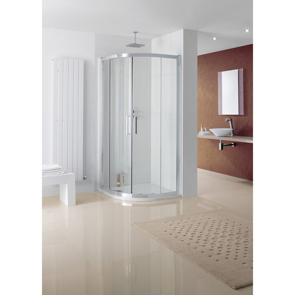 Lakes Coastline Valmiera 900 x 800 x 2000mm Double Door Offset Quadrant Shower Enclosure