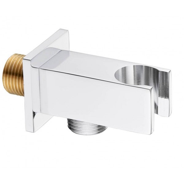 Square Shower Elbow Outlet with Handset Holder - 035.47.010