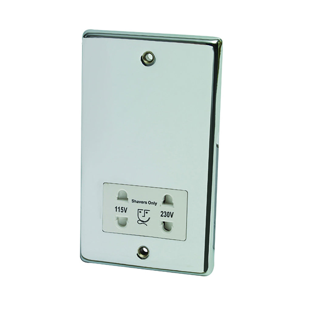 Dual Voltage Shaver Socket Chrome - 268.85.002