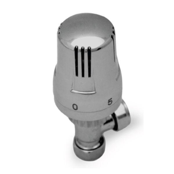 Reina Windsor Chrome Thermostatic Angled Radiator Valves - WINDSOR/REI